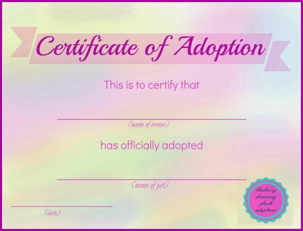 Adoption Certificate Template 1