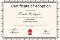 Adoption Certificate Template 3