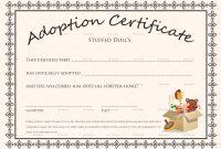 Adoption Certificate Template 4