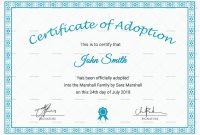 Adoption Certificate Template 5