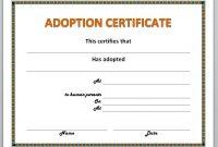 Adoption Certificate Template 6
