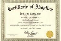 Adoption Certificate Template 7