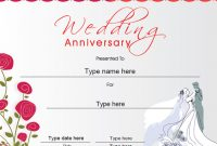 Anniversary Certificate Template Free 4