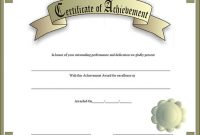 Army Certificate Of Achievement Template 10
