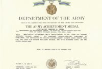 Army Certificate Of Achievement Template 2