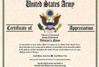 Army Certificate Of Appreciation Template 2