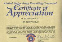 Army Certificate Of Appreciation Template 6