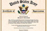 Army Certificate Of Appreciation Template 7
