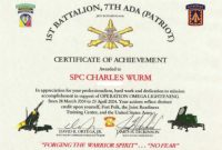 Army Certificate Of Appreciation Template 8