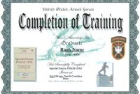 Army Certificate Of Completion Template 3
