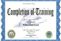Army Certificate Of Completion Template 5