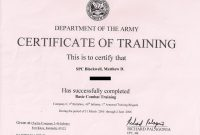 Army Certificate Of Completion Template 6