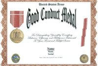 Army Good Conduct Medal Certificate Template 7