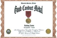 Army Good Conduct Medal Certificate Template 9