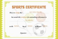 Athletic Certificate Template 2