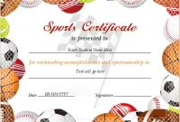 Athletic Certificate Template 3