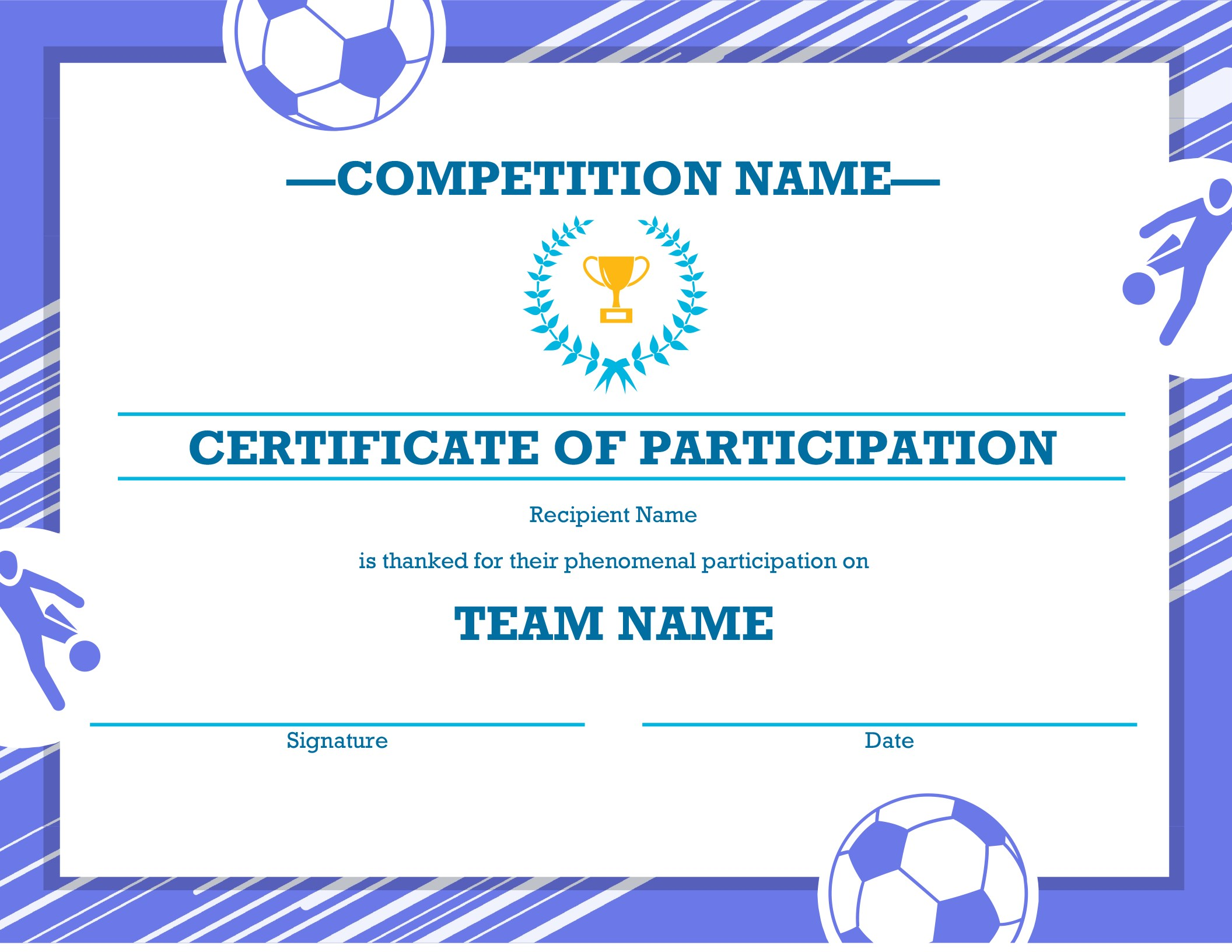 Athletic Certificate Template 5