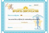 Athletic Certificate Template 6