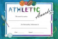 Athletic Certificate Template 7