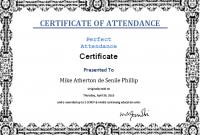 Attendance Certificate Template Word 3