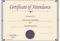 Attendance Certificate Template Word 4