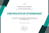Attendance Certificate Template Word 6