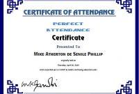 Attendance Certificate Template Word 7