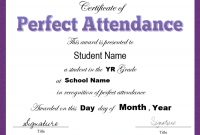 Attendance Certificate Template Word 9