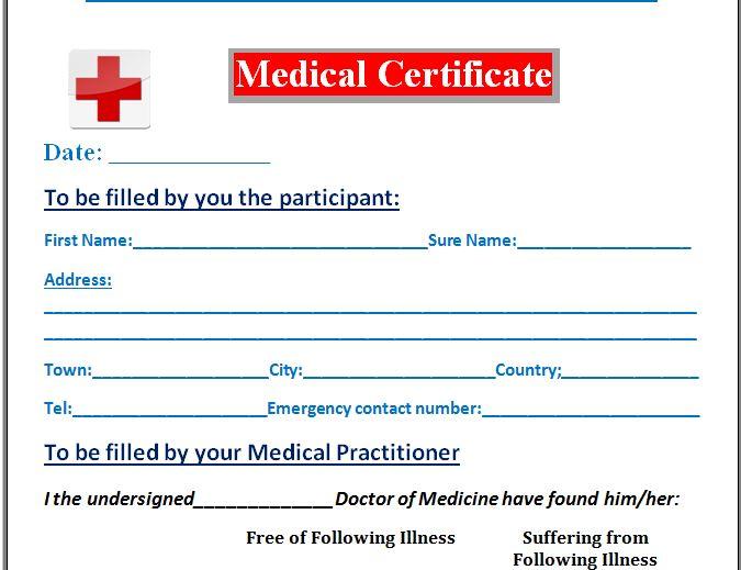 Australian Doctors Certificate Template 2