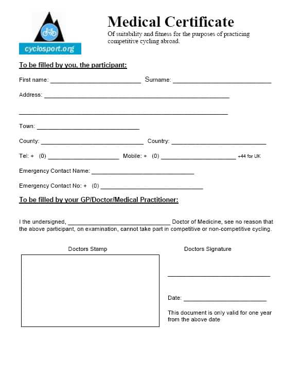 Australian Doctors Certificate Template 3