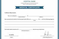 Australian Doctors Certificate Template 5