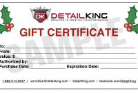 Automotive Gift Certificate Template 3