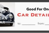 Automotive Gift Certificate Template 4
