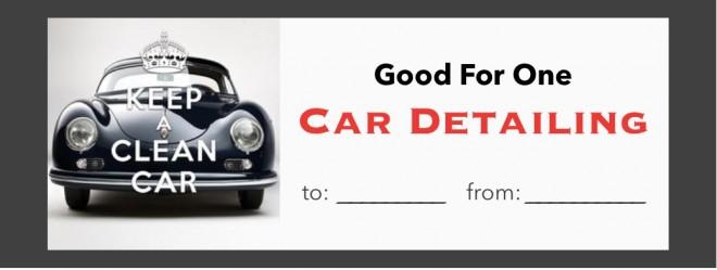 Automotive Gift Certificate Template 4