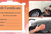 Automotive Gift Certificate Template 5