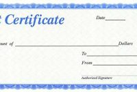 Automotive Gift Certificate Template 6