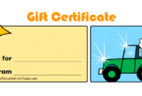 Automotive Gift Certificate Template 8