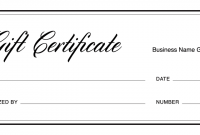 Automotive Gift Certificate Template 9