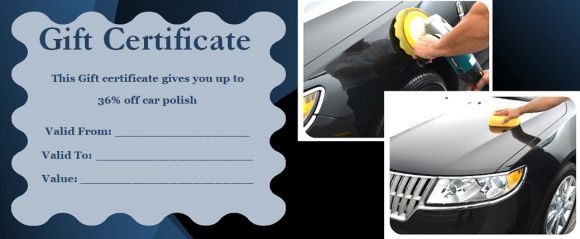 Automotive Gift Certificate Template