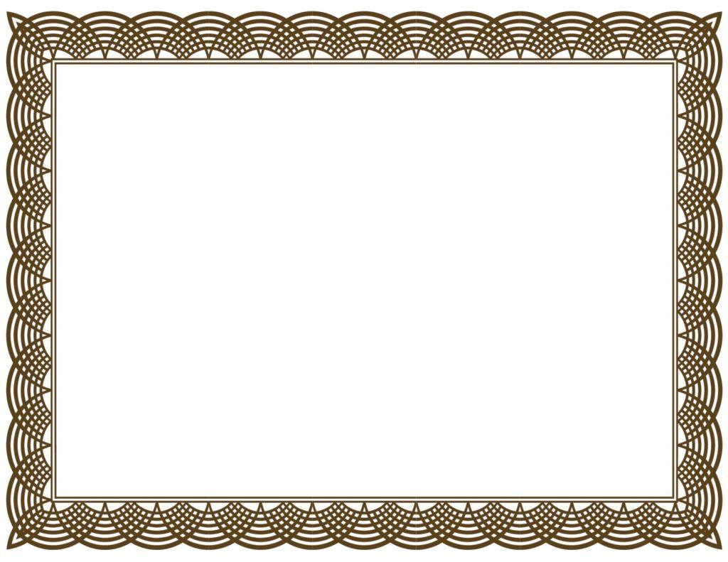 Award Certificate Border Template 8
