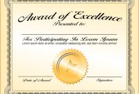 Award Certificate Design Template 10