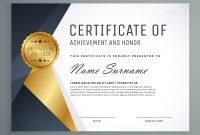 Award Certificate Design Template 2