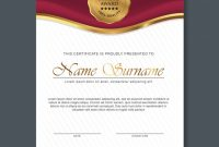Award Certificate Design Template 4
