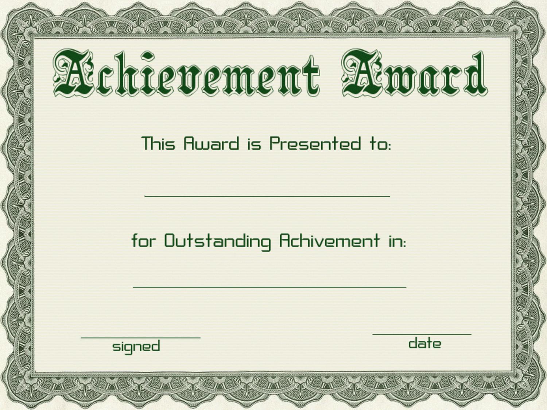 Award Certificate Template Powerpoint 10