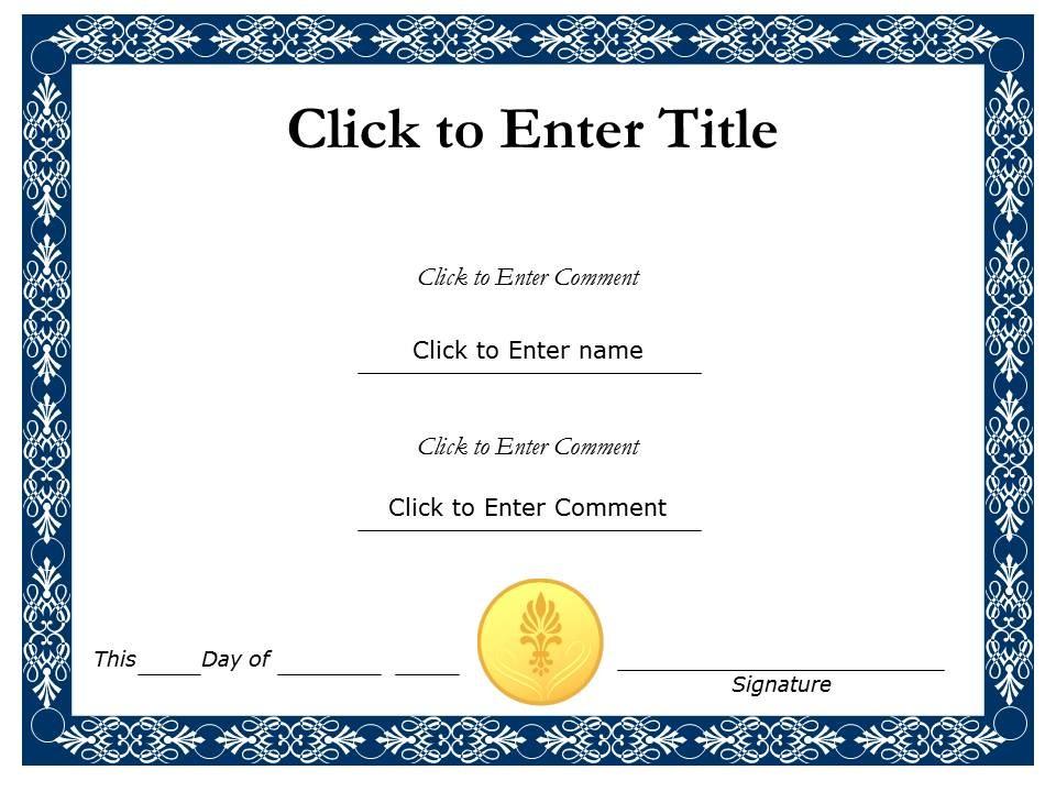 Award Certificate Template Powerpoint 555555