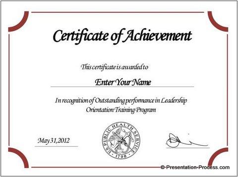 Award Certificate Template Powerpoint 6