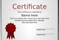 Award Certificate Template Powerpoint 66