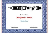 Award Certificate Templates Word 2007 2