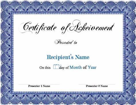 Award Certificate Templates Word 2007 5
