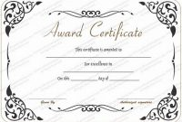 Award Of Excellence Certificate Template 3